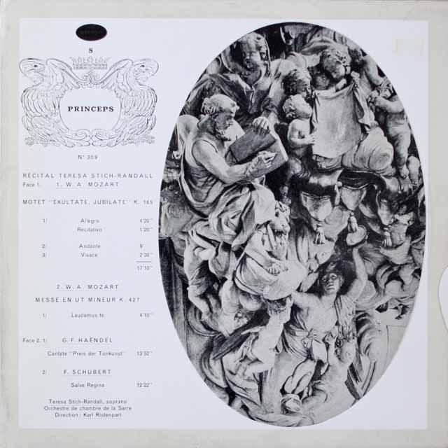 リステンパルト&ランダル/ランダル・リサイタル 仏CF  2622 LP レコード