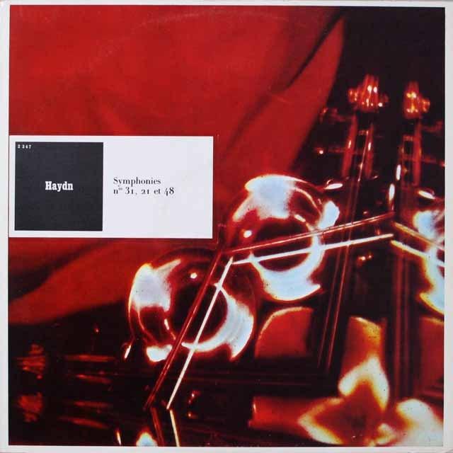 リステンパルトのハイドン/交響曲「ホルン信号」ほか 仏CF  2622 LP レコード