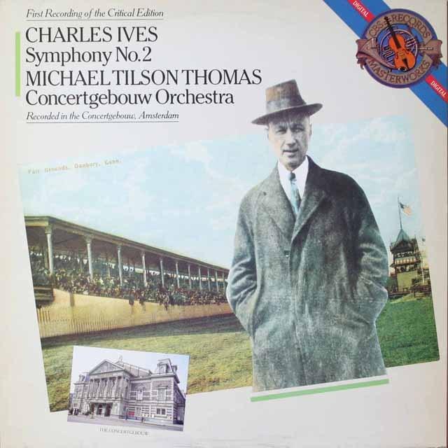 ティルソン・トーマスのアイヴス/交響曲第2番 独CBS 3325 LP レコード