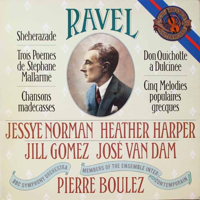 ブーレーズのラヴェル/歌曲集 蘭CBS 3325 LP レコード