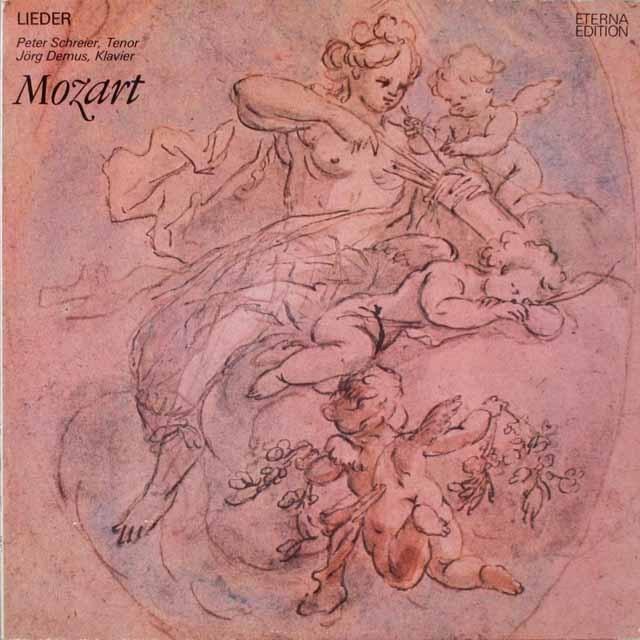 シュライアーのモーツァルト/歌曲集 独ETERNA  2624 LP レコード