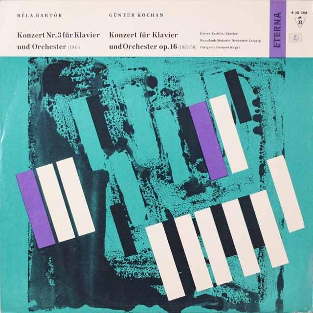 ツェヒリン&ケーゲルのバルトーク/ピアノ協奏曲第3番ほか 独ETERNA  モノラル 2624 LP レコード