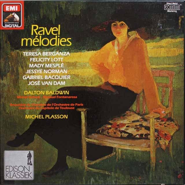 ベルガンサ&プラッソンらのラヴェル/歌曲集 独EMI 3327 LP レコード