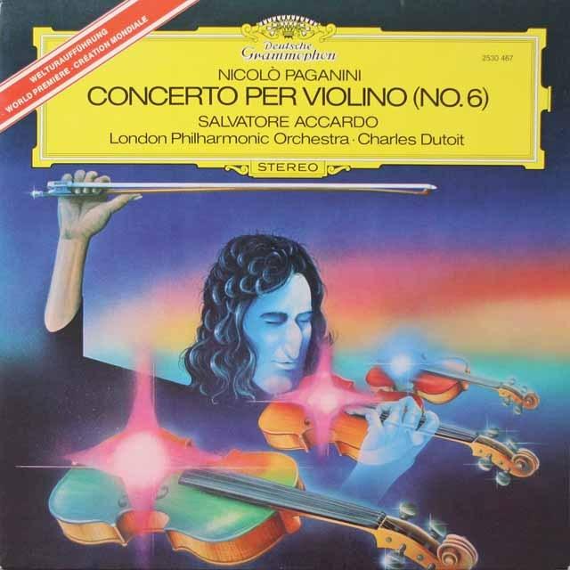 アッカルドのパガニーニ/ヴァイオリン協奏曲第6番  独DGG  2625 LP レコード
