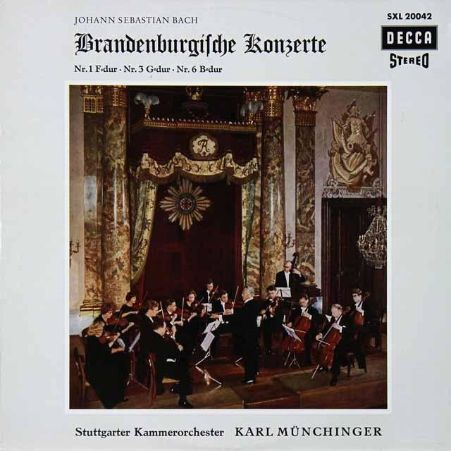 ミュンヒンガーのバッハ/ブランデンブルク協奏曲第1、3、6番 独DECCA 2728 LP レコード