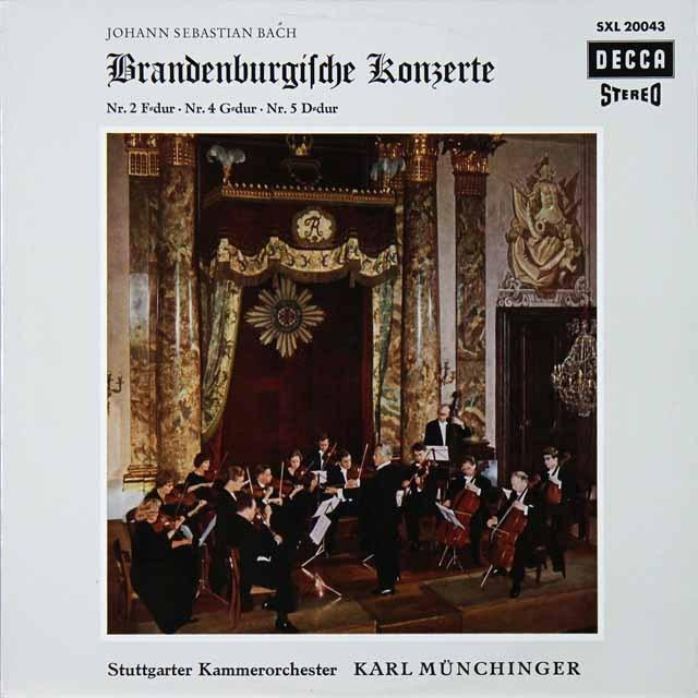 ミュンヒンガーのバッハ/ブランデンブルク協奏曲第2、4、5番 独DECCA 2728 LP レコード