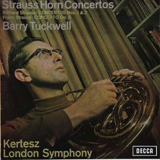 タックウェル&ケルテスのR.シュトラウス/ホルン協奏曲第1&2番ほか 独DECCA 3225 LP レコード