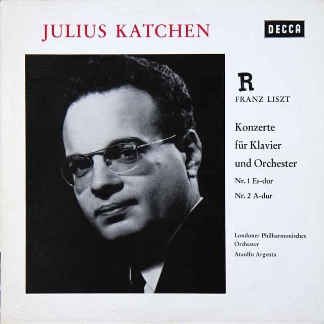 カッチェン&アルヘンタのリスト/ピアノ協奏曲第1&2番 独DECCA 2728 LP レコード