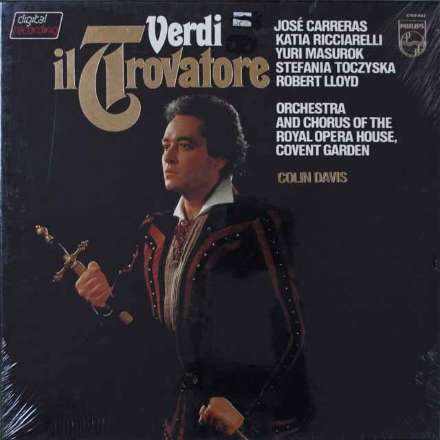 【未開封】カレーラス&デイヴィスのヴェルディ/「イル・トロヴァトーレ」 蘭PHILIPS 2628 LP レコード
