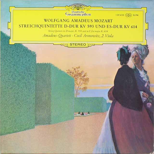 アマデウス四重奏団のモーツァルト/弦楽五重奏曲第5&6番 独DGG 2606 LP レコード