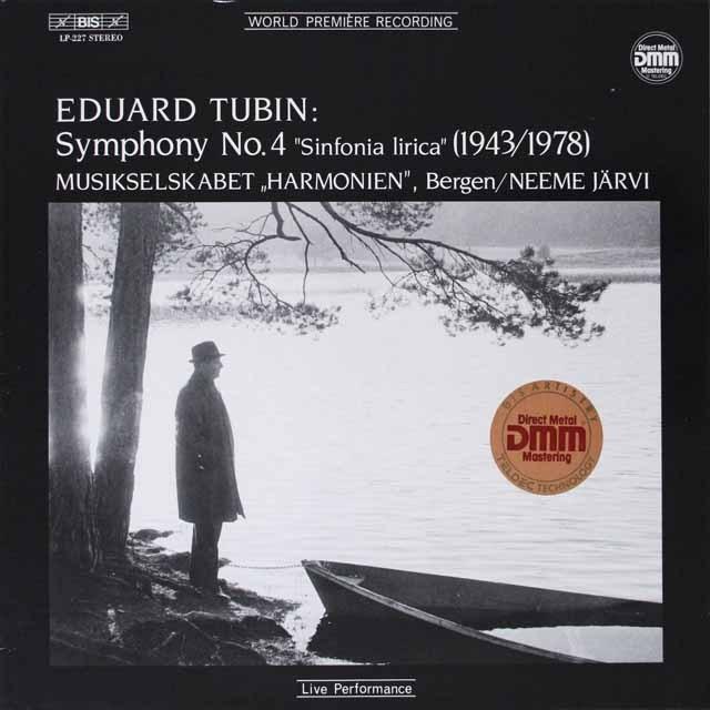 ヤルヴィのトゥビン/交響曲第4番「シンフォニア・リリカ」 独BIS  2628 LP レコード
