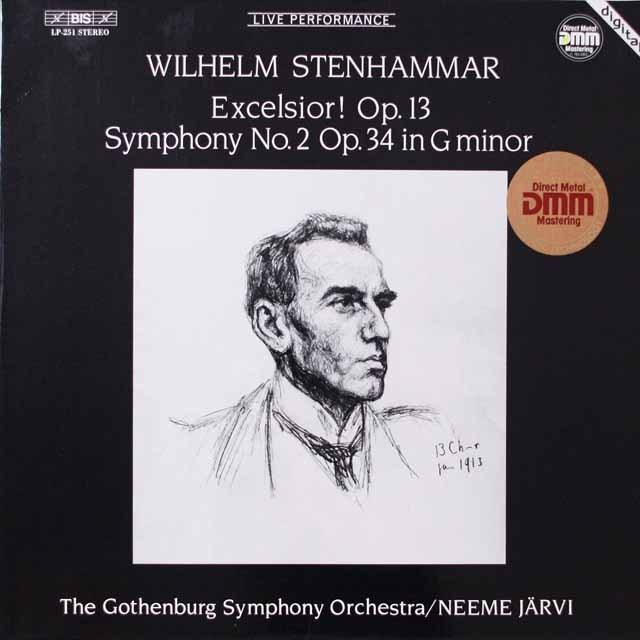 ヤルヴィのステーンハンマル/交響曲第2番ほか 独BIS  2628 LP レコード