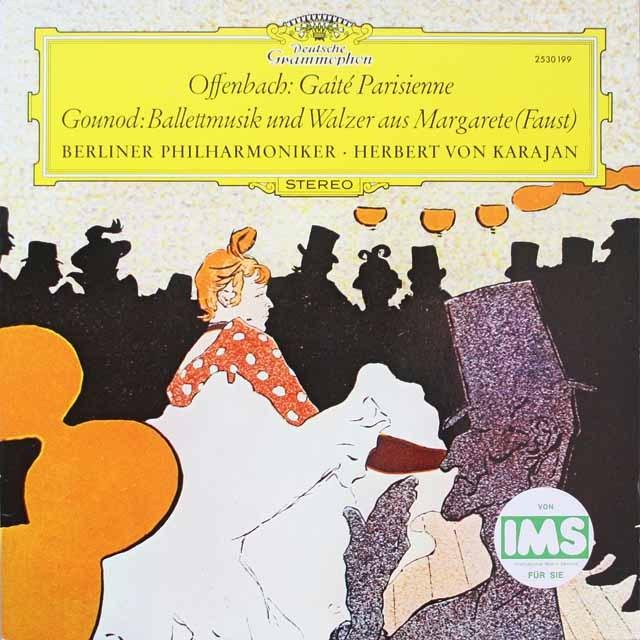 カラヤンのオッフェンバック/「パリの喜び」ほか 独DGG 3325 LP レコード