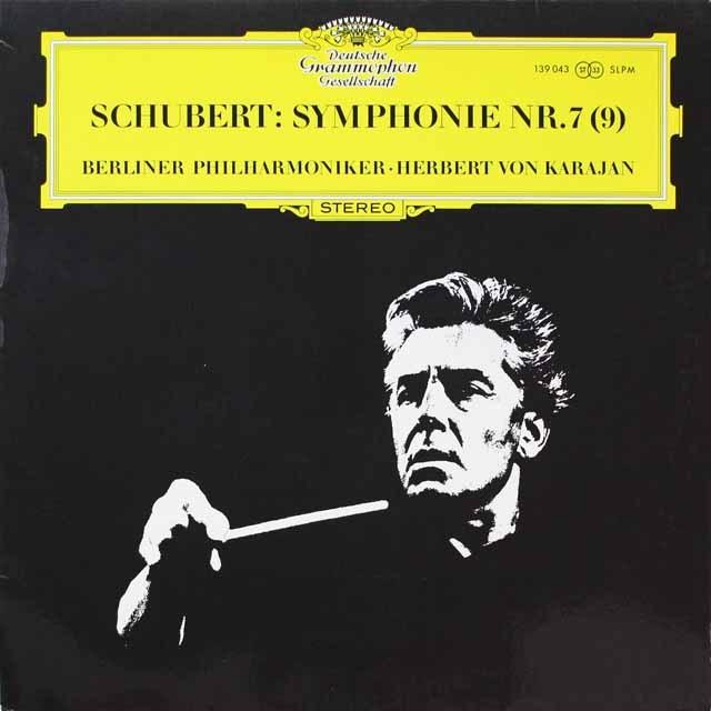 カラヤンのシューベルト/交響曲第7(9)番「ザ・グレイト」 独DGG 3326 LP レコード