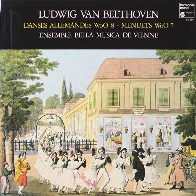 ウィーン・アンサンブル・ベッラ・ムジカ のベートーヴェン/12のドイツ舞曲 仏HM 2628 LP レコード