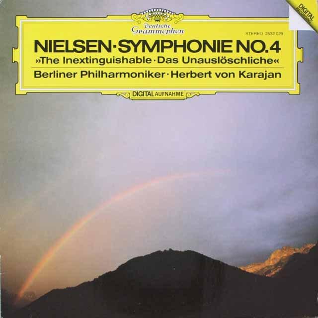カラヤンのニールセン/交響曲第4番「不滅」 独DGG 3326 LP レコード