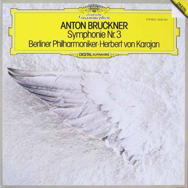 カラヤンのブルックナー/交響曲第3番(1888/89版) 独DGG 3326 LP レコード