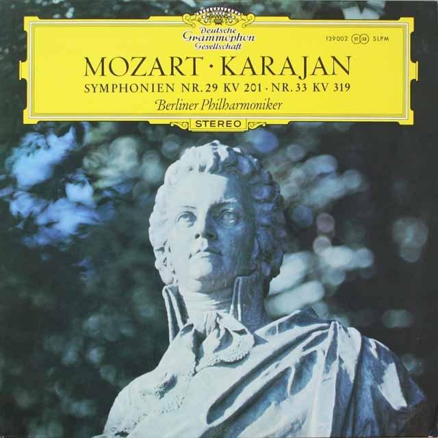 カラヤンのモーツァルト/交響曲第29、33番 独DGG 3326 LP レコード