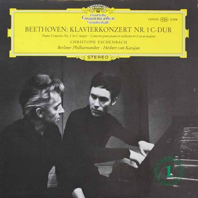 エッシェンバッハ&カラヤンのベートーヴェン/ピアノ協奏曲第1番 独DGG 2606 LP レコード