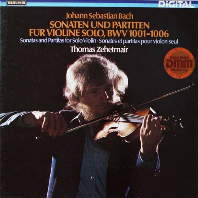 ツェートマイヤーのバッハ/無伴奏ヴァイオリンのためのソナタとパルティータ集 独TELEFUNKEN 2628 LP レコード