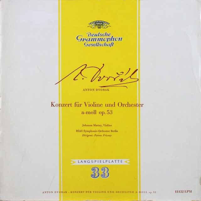 マルツィ&フリッチャイのドヴォルザーク/ヴァイオリン協奏曲 独DGG 2728 LP レコード