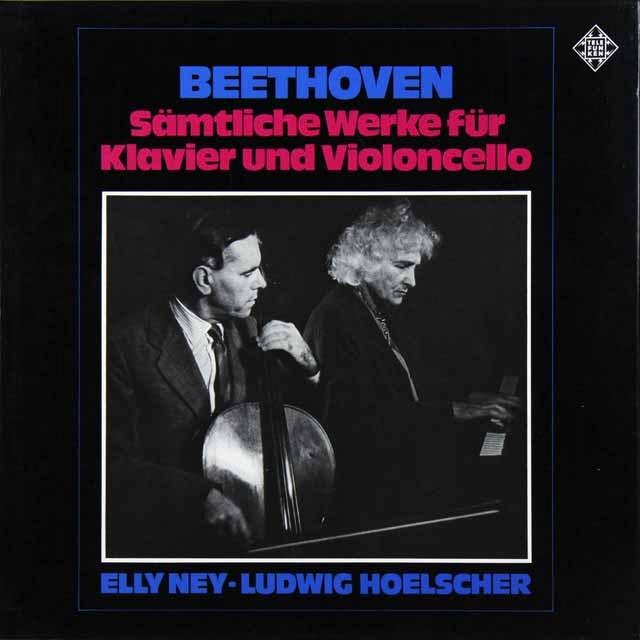 ヘルシャー&ナイのベートーヴェン/チェロソナタ全集 独TELEFUNKEN 3225 LP レコード