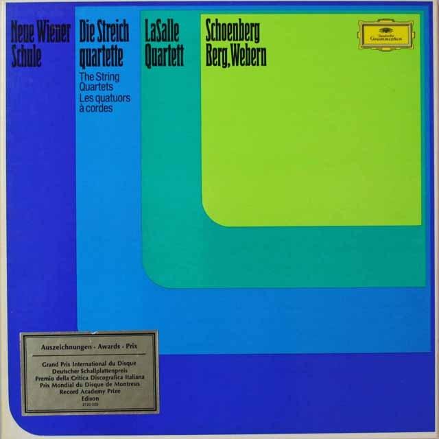 ラサールSQの新ウィーン楽派の弦楽四重奏曲集  独DGG  2623 LP レコード