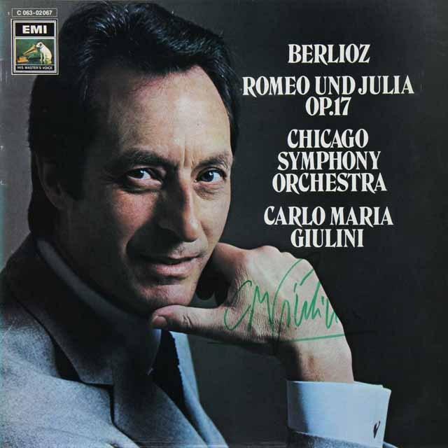 【直筆サイン入り】 ジュリーニのベルリオーズ/「ロメオとジュリエット」 独EMI 3225 LP レコード