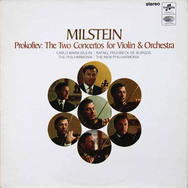 ミルシュタイン&ジュリーニのプロコフィエフ/ヴァイオリン協奏曲第1&2番 オリジナル盤 英columbia 2728 LP レコード