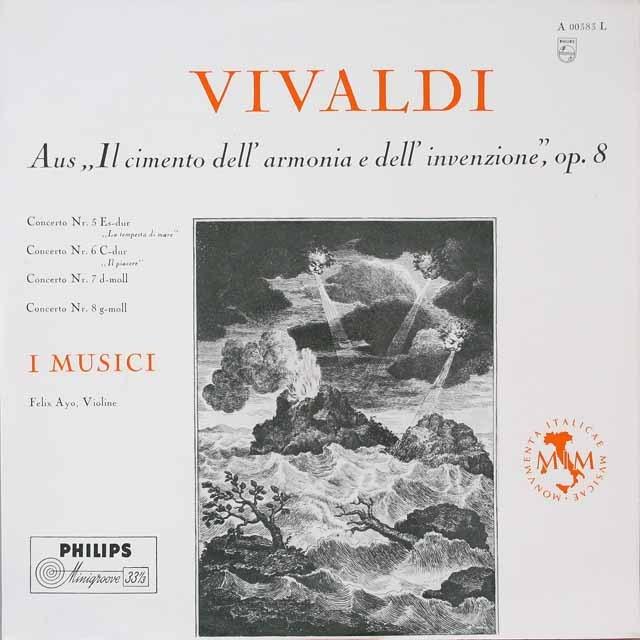 アーヨ&イ・ムジチのヴィヴァルディ/「和声と創意の試み」より 独PHILIPS モノラル 2609 LP レコード