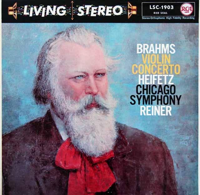 ハイフェッツ&ライナーのブラームス/ヴァイオリン協奏曲 独RCA 2850 LP レコード