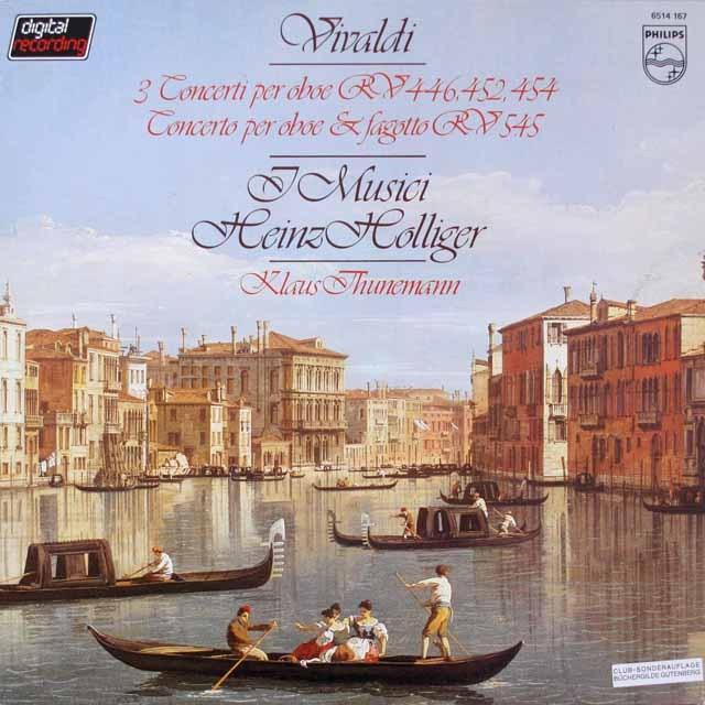 ホリガー、イ・ムジチによるヴィヴァルディ/オーボエ協奏曲集 蘭PHILIPS 3328 LP レコード