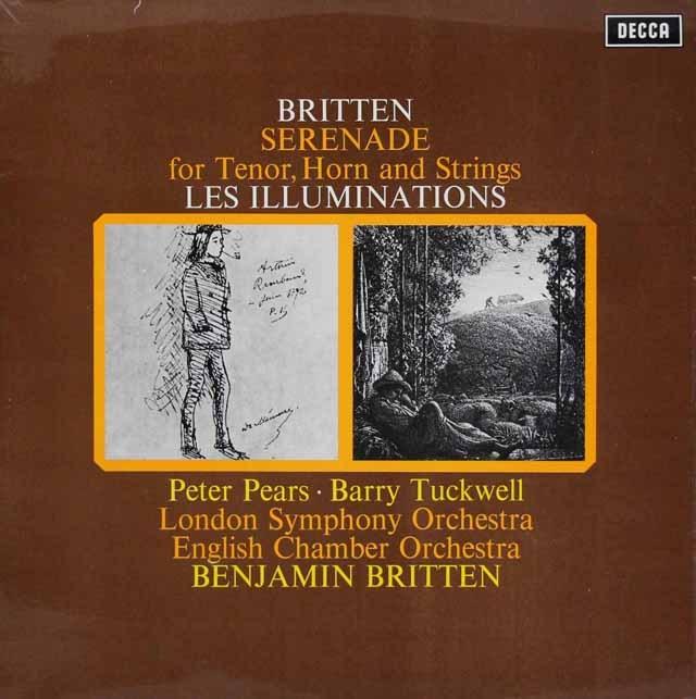 【オリジナル盤】 ブリテンの自作自演/テノール、 ホルンと弦楽のためのセレナード 英DECCA 3293 LP レコード