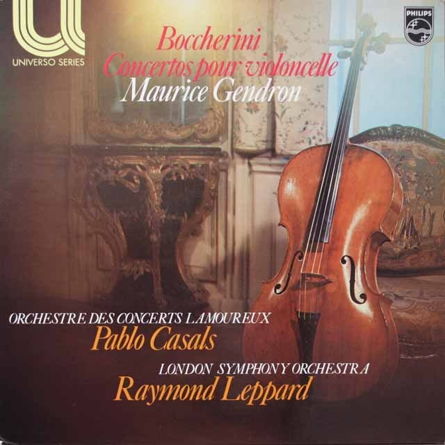 ジャンドロンのボッケリーニ/チェロ協奏曲集 仏PHILIPS 3328 LP レコード