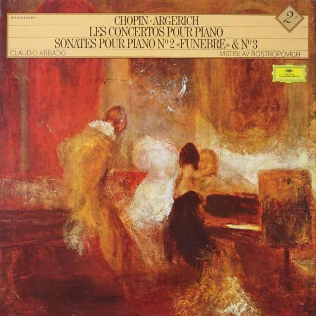 アルゲリッチのショパン/ピアノ協奏曲集  仏DGG  2623 LP レコード