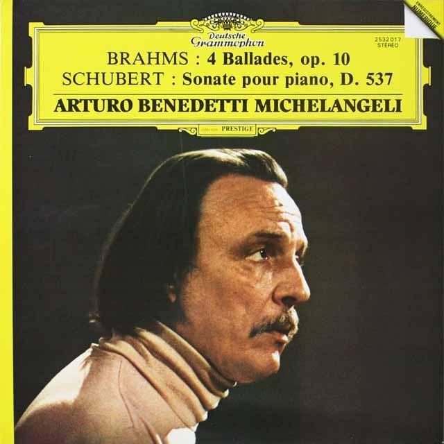 ミケランジェリのブラームス/「4つのバラード」ほか  仏DGG  2623 LP レコード