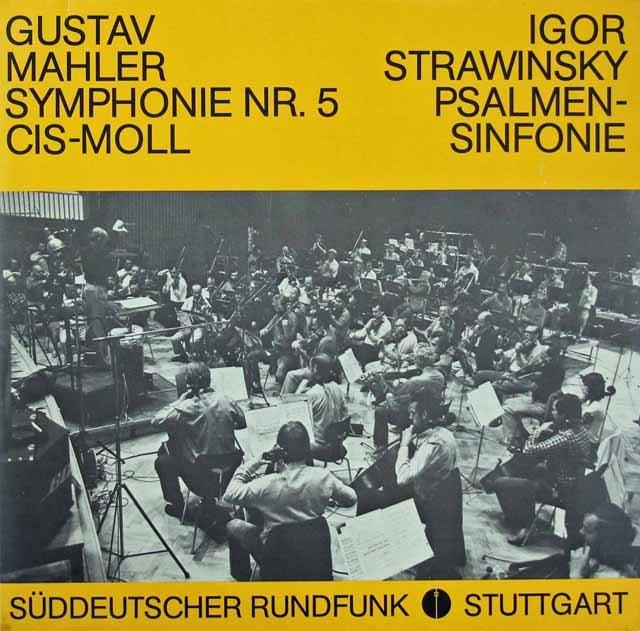 ベルティーニのマーラー/交響曲第5番ほか 独SWR 3293 LP レコード