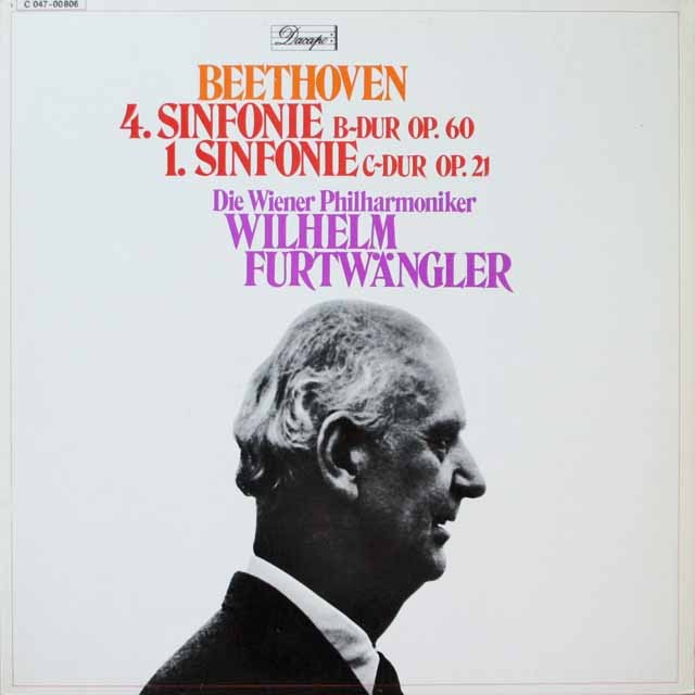 フルトヴェングラーのベートーヴェン/交響曲第1、4番 独EMI(エレクトローラ) 3328 LP レコード