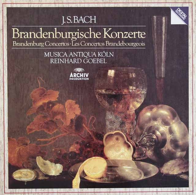 ムジカ・アンティクヮ・ケルンのバッハ/ブランデンブルク協奏曲集 独ARCHIV 2850 LP レコード