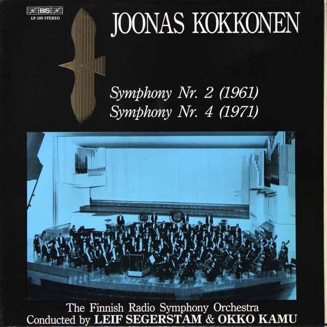 セーゲルスタム&カムのコッコネン/交響曲第2&4番 独BIS 3289 LP レコード