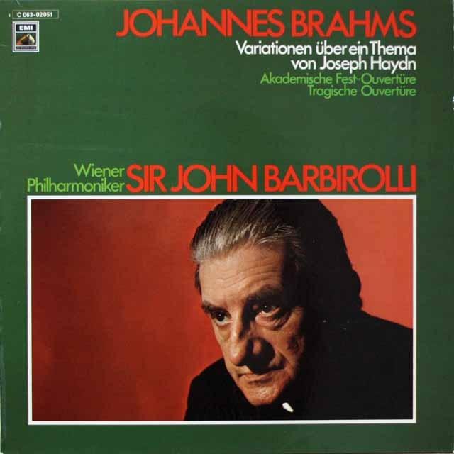 バルビローリのブラームス/管弦楽曲集 独EMI 3328 LP レコード