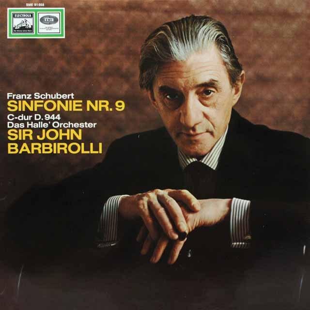 バルビローリのシューベルト/交響曲第9番「グレート」 独EMI 3328 LP レコード