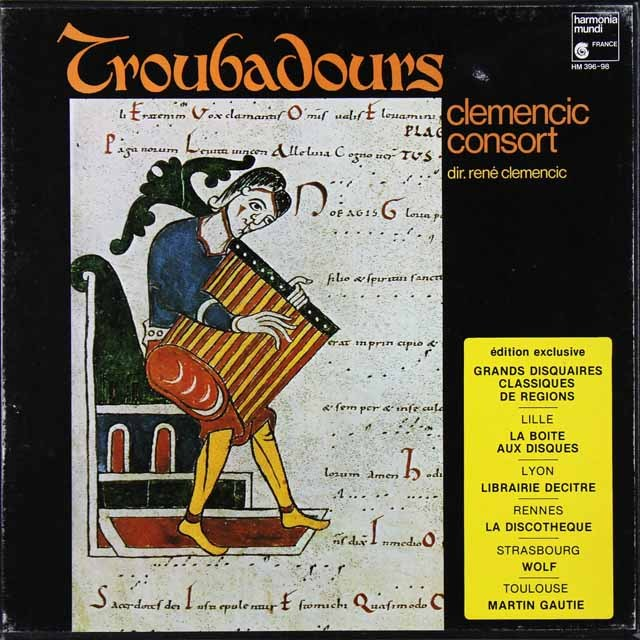 クレメンシック・コンソートのトルバドゥール~吟遊詩人の音楽 仏HM 2729 LP レコード