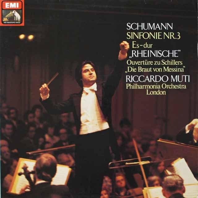 ムーティのシューマン/交響曲第3番「ライン」ほか 独EMI 3328 LP レコード