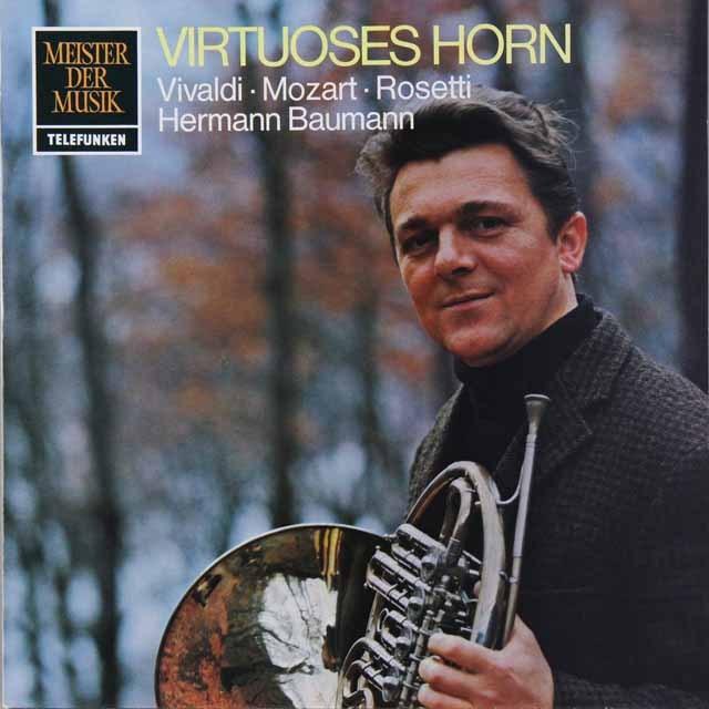バウマンのヴィヴァルディ/2つのホルンのための協奏曲ほか 独TELEFUNKEN 2729 LP レコード
