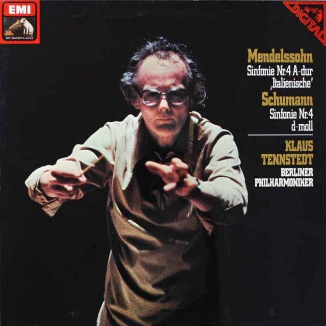 テンシュテットのメンデルスゾーン&シューマン/交響曲第4番 独EMI 3328 LP レコード