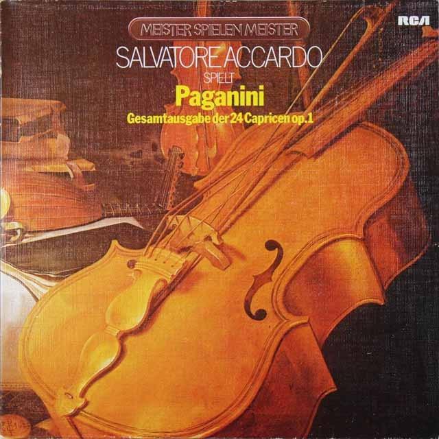 アッカルドのパガニーニ/24の奇想曲 独RCA 2729 LP レコード
