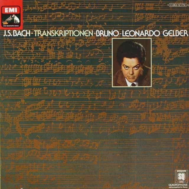 ゲルバーのバッハ/ピアノ作品集 独EMI 3328 LP レコード