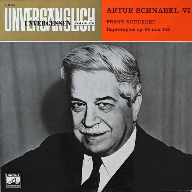 シュナーベルのシューベルト/即興曲集 独EMI 3328 LP レコード