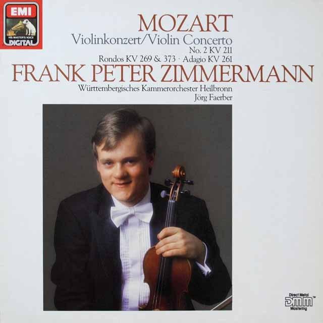 ツインマーマンのモーツァルト/ヴァイオリン協奏曲第2番ほか 独EMI 3328 LP レコード